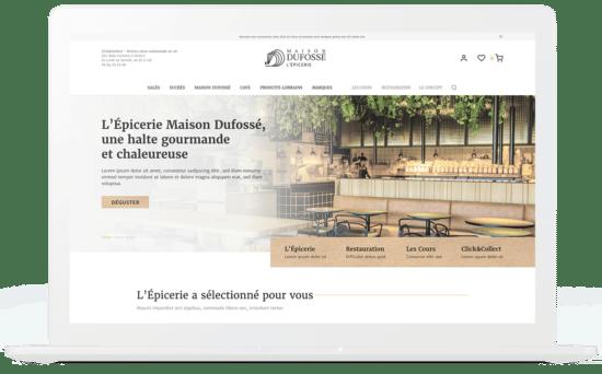 Maison Dufossé L'Épicerie création boutique en ligne mockup